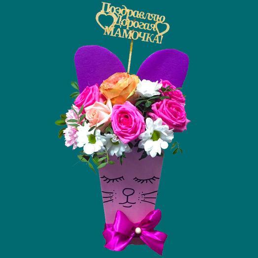 Котенок: букеты цветов на заказ Flowwow