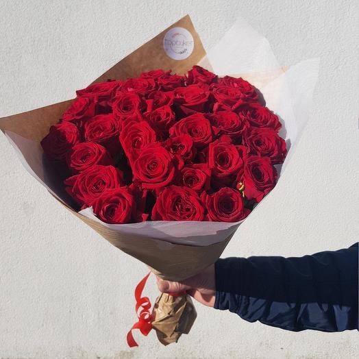 Букет их красных роз: букеты цветов на заказ Flowwow