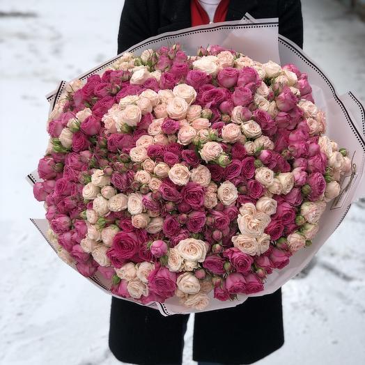 101 Пионовидная кустовая роза: букеты цветов на заказ Flowwow