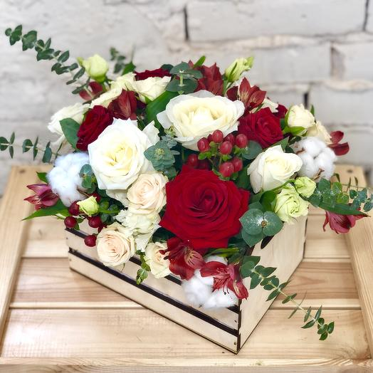 Композиция «Тайное сокровище»: букеты цветов на заказ Flowwow