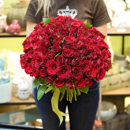 "Букет из роз ""Опера Кармен"" (51, 101, 151): букеты цветов на заказ Flowwow"
