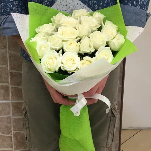 Розы белые: букеты цветов на заказ Flowwow
