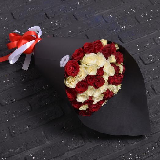 Микс 51 Роза: букеты цветов на заказ Flowwow