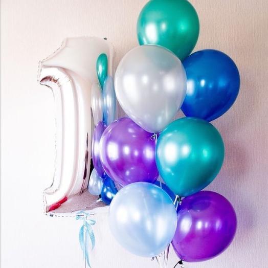 Цифра с дне рождения шарики: букеты цветов на заказ Flowwow