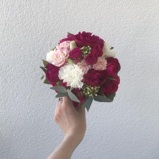 """Букет невесты """"Бриджит Бордо"""": букеты цветов на заказ Flowwow"""