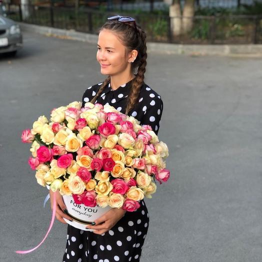 105 роз: букеты цветов на заказ Flowwow