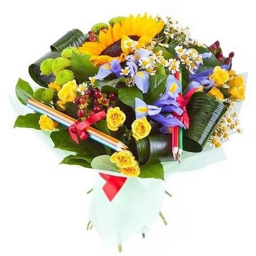 Букет с подсолнухом 2: букеты цветов на заказ Flowwow