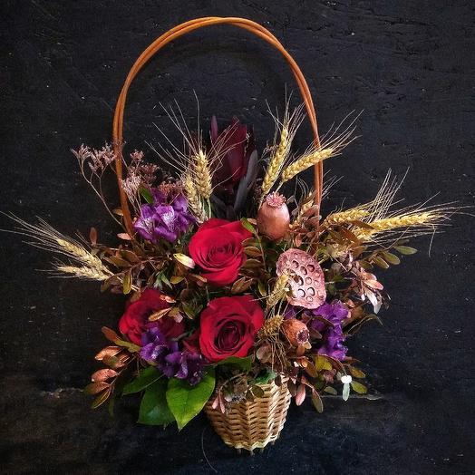 Корзина осень: букеты цветов на заказ Flowwow