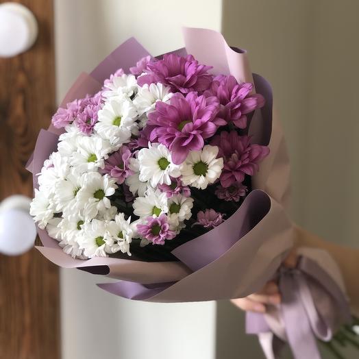 Букет из кустовой хризантемы: букеты цветов на заказ Flowwow