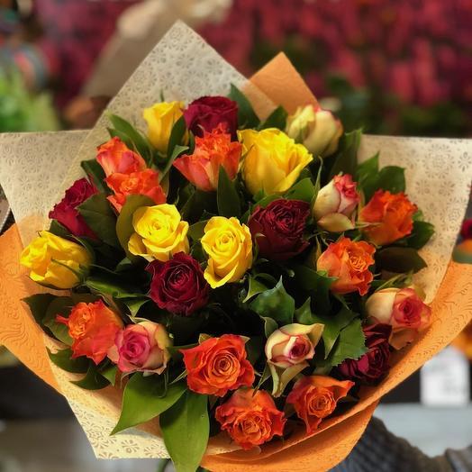 Букет 25 роз кения