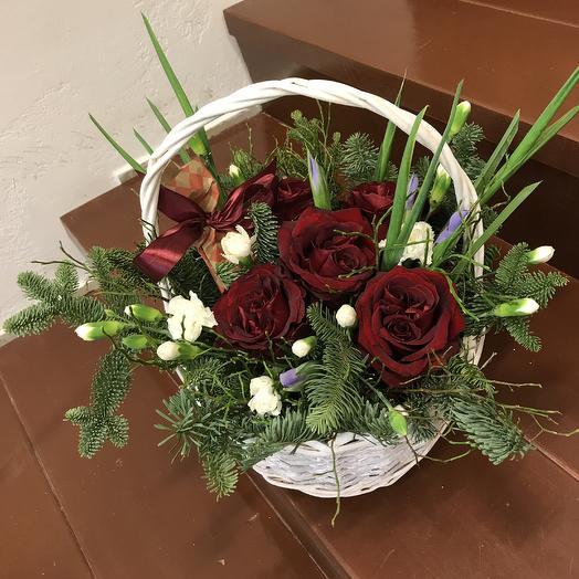 Корзинка с сюрпризом внутри): букеты цветов на заказ Flowwow
