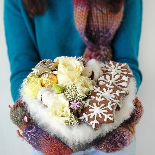 Зимняя композиция Снежинка
