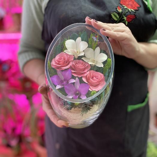Цветы в стекле: букеты цветов на заказ Flowwow