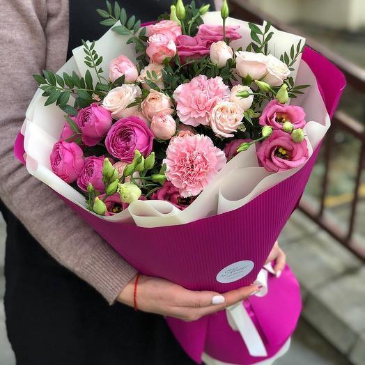 """Европейский букет цветов """"Виолетта"""""""