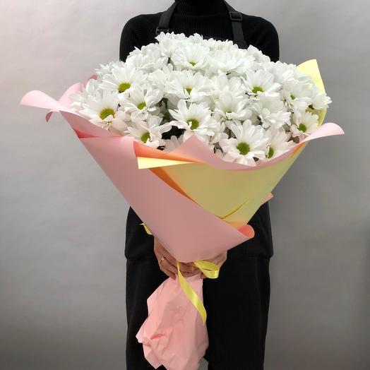 Облако хризантем: букеты цветов на заказ Flowwow