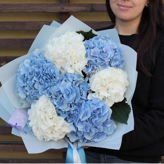 Охапка гортензий: букеты цветов на заказ Flowwow