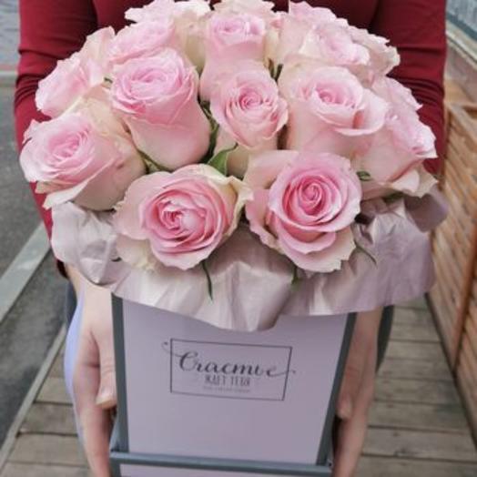Нежные розы в коробочке