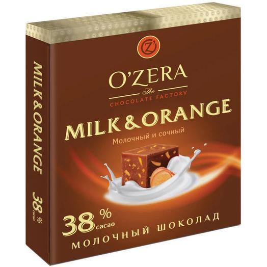 OZera, шоколад молочный Milk   Orange, 90 г