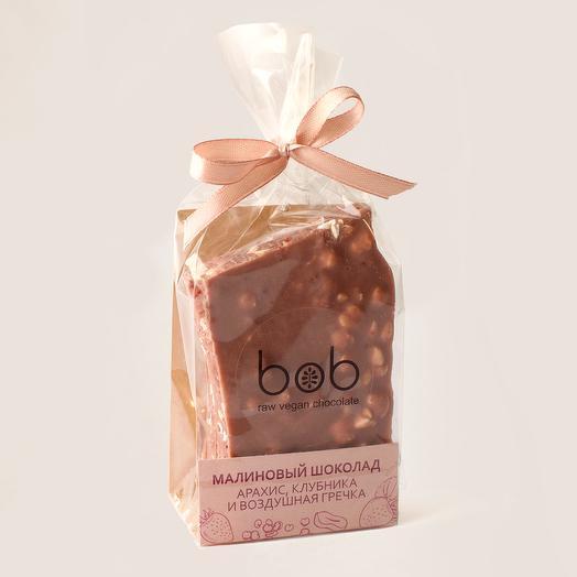 Малиновый шоколад Клубника, арахис и воздушные злаки
