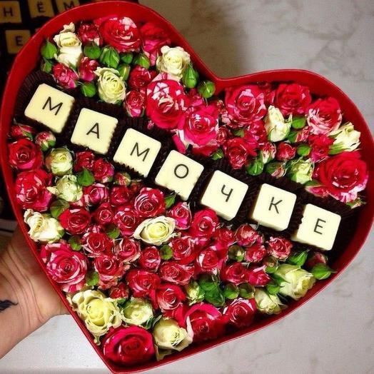 Цветочная коробочка «Мамочке»