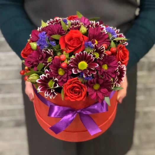 Цветы в коробке 00562