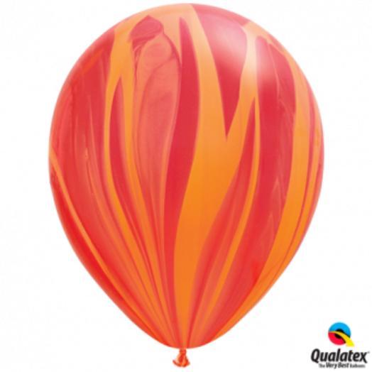 "Q Шар 11""/24 см, супер агат /Red Orange"