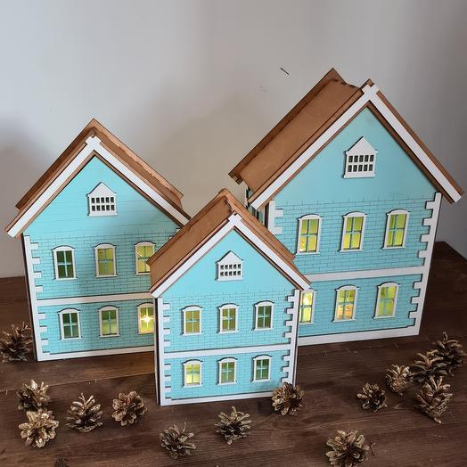 Набор деревянных домиков Женева
