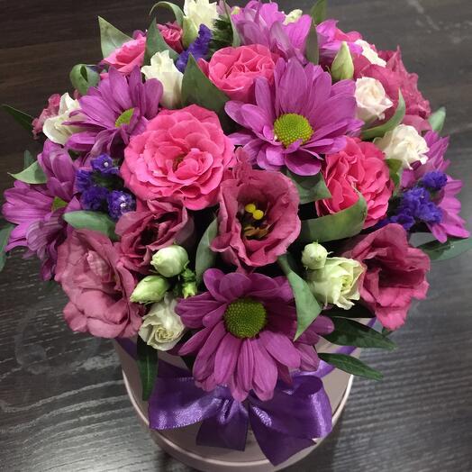 Цветы в коробке 0547