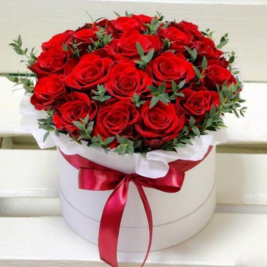 Стильная коробка роз 🌹