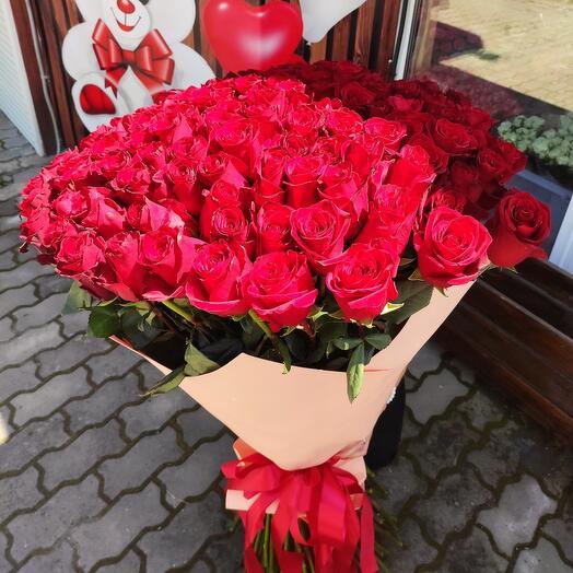 ✅ 1 метр длинна Букет 101 роза