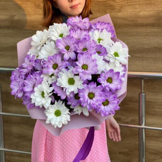Bouquet of 7 Bush Chrysanthemums