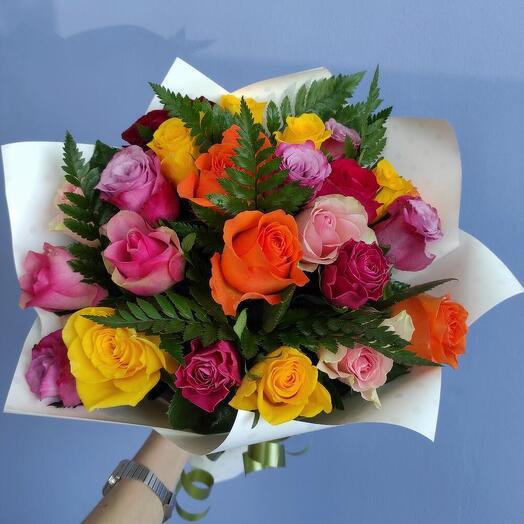 Букет из 23 кенийских роз