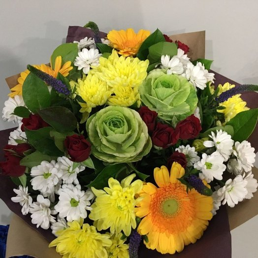 Букет большой праздничный: букеты цветов на заказ Flowwow