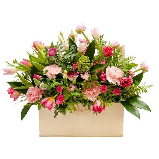 Ящик с цветами Эпоха Возрождения: букеты цветов на заказ Flowwow
