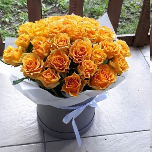 Солнечные розы: букеты цветов на заказ Flowwow
