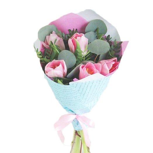 5 тюльпанов : букеты цветов на заказ Flowwow