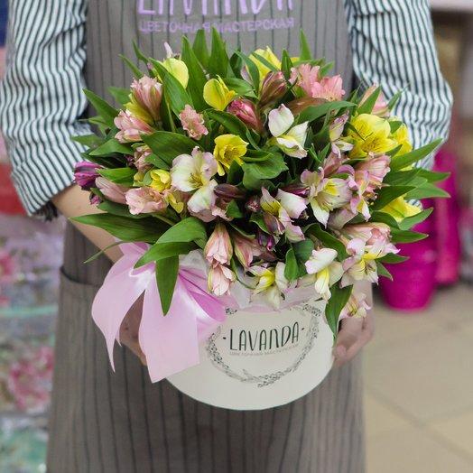 13 альстромерий в коробке: букеты цветов на заказ Flowwow
