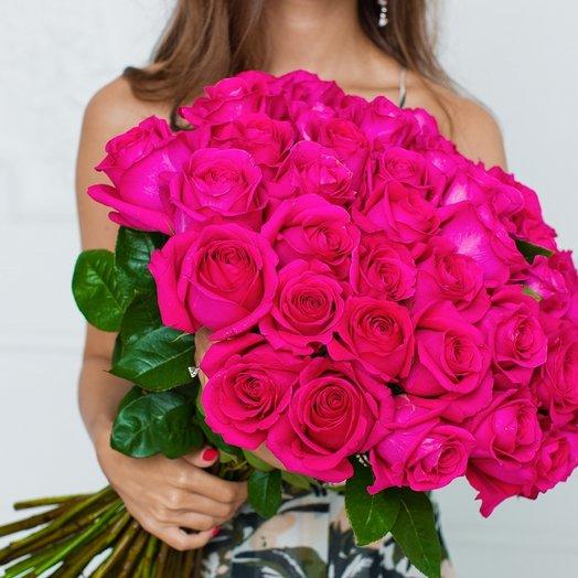 51 Розовая Эквадорская Роза 80см: букеты цветов на заказ Flowwow