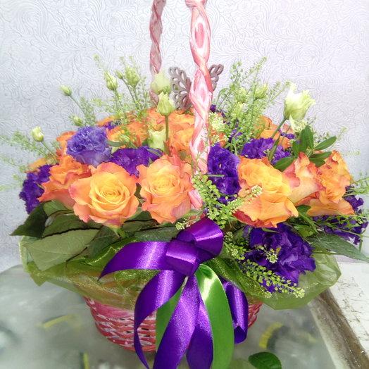 Корзинка цветов: букеты цветов на заказ Flowwow