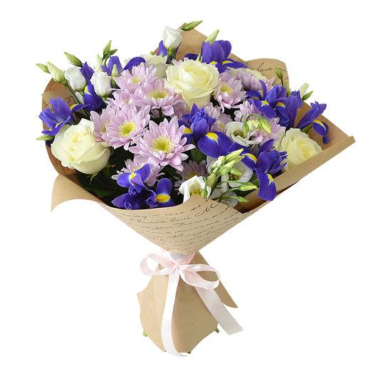 Сборный букет с хризантемами : букеты цветов на заказ Flowwow