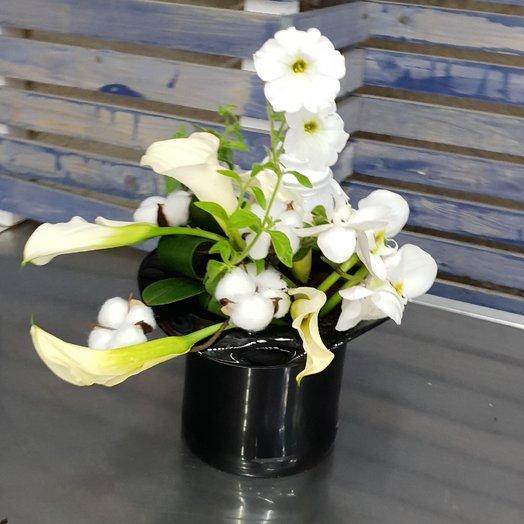 Шляпа с горшечными цветами от Floristic World : букеты цветов на заказ Flowwow