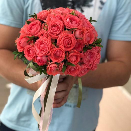 """Яркий свадебный букет """"Цветочный рай"""""""