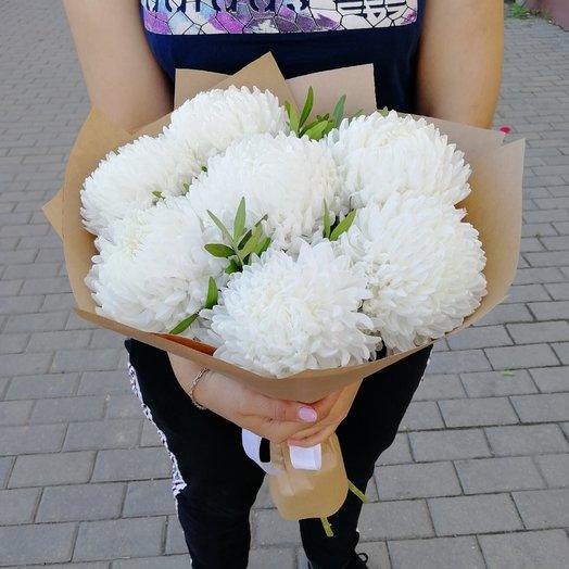 Букет из белых хризантема: букеты цветов на заказ Flowwow
