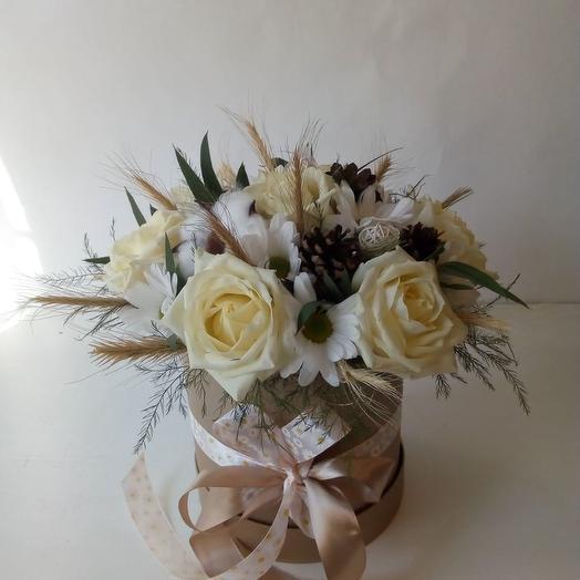 Ванильное мороженое: букеты цветов на заказ Flowwow