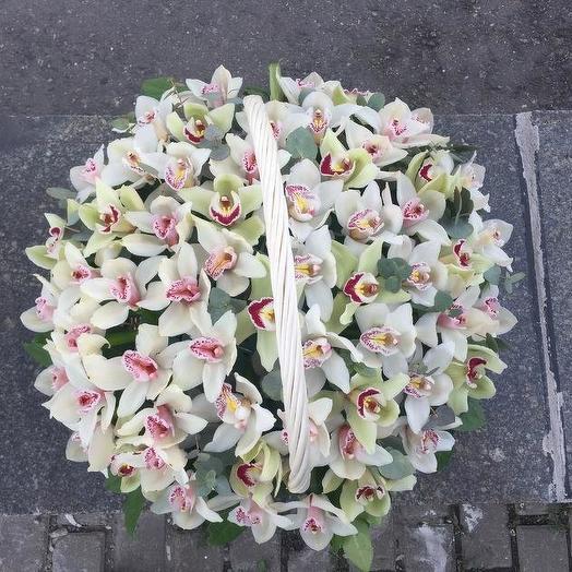 Корзина из орхидей: букеты цветов на заказ Flowwow