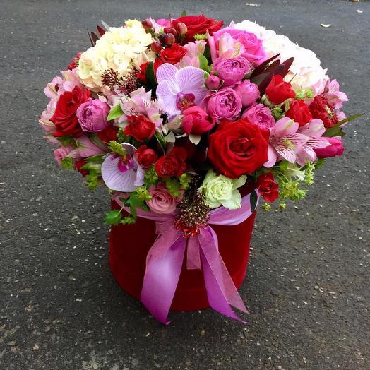 Любовь в сердце: букеты цветов на заказ Flowwow