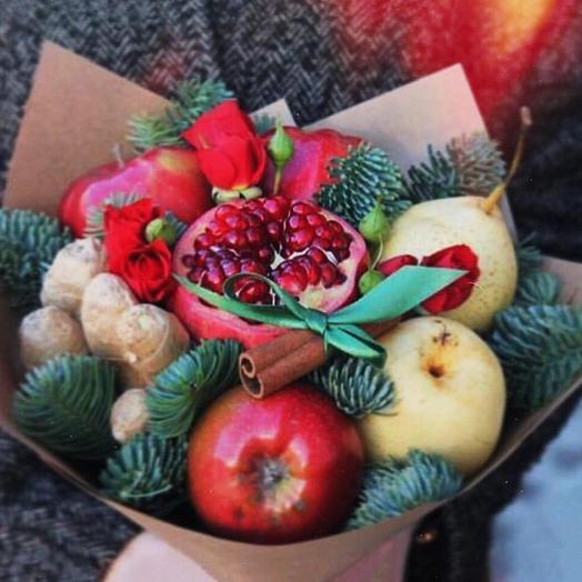 Фруктовый букет «зима»: букеты цветов на заказ Flowwow