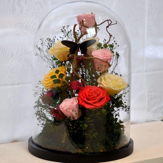 "КОМПОЗИЦИЯ ""ХОЛОДНОЕ СЕРДЦЕ"": букеты цветов на заказ Flowwow"