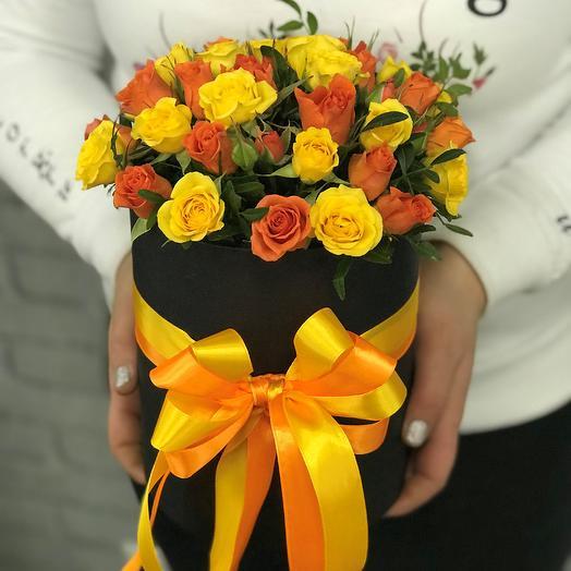️️️Лето, мы тебя ждем! ️️️Коробки с цветами. Кустовые розы.N350: букеты цветов на заказ Flowwow