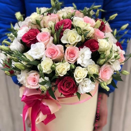 Большой короб класса Люкс: букеты цветов на заказ Flowwow
